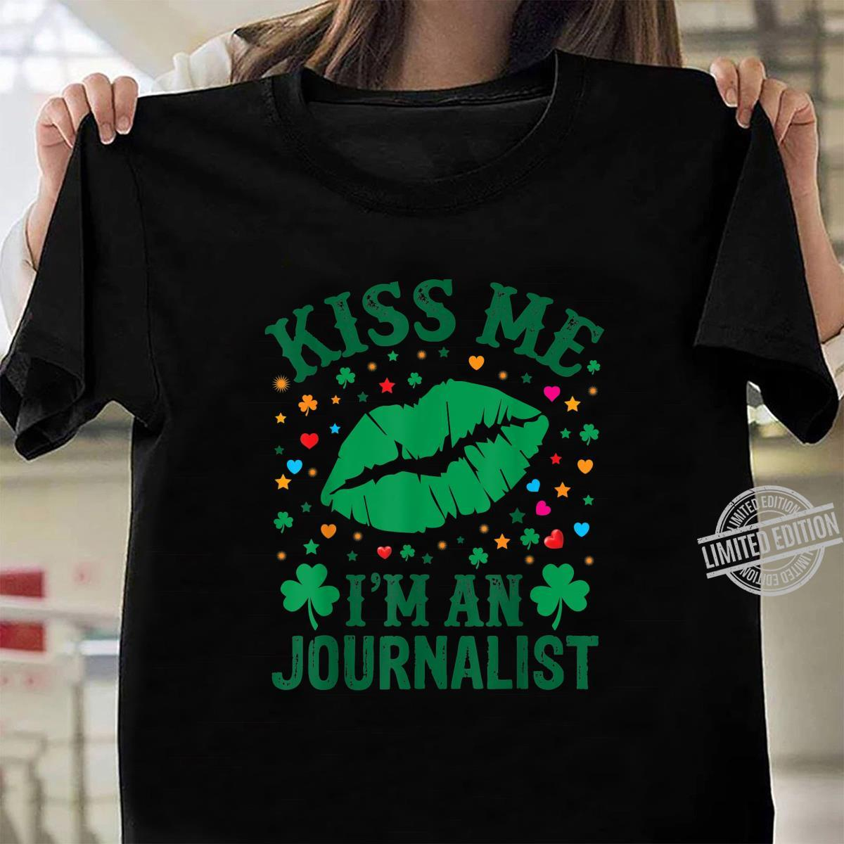 Kiss Me Im A Veteran St Patricks Day Women Sweatshirt tee